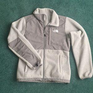 North Face Denali 2 gray fleece jacket